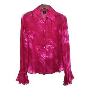 Bell Sleeve Sheer Valentines Blouse